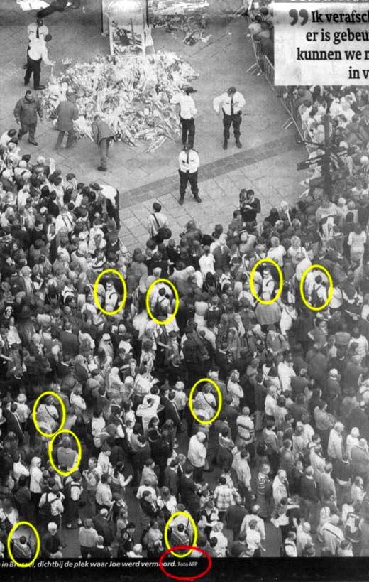 Mannetjes worden er bijgeschilderd om de betoging nog grootser te laten lijken?