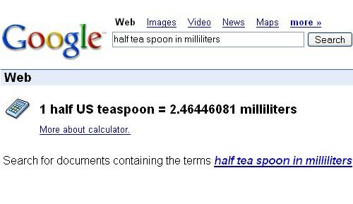 Een halve Theelepel in milliliter