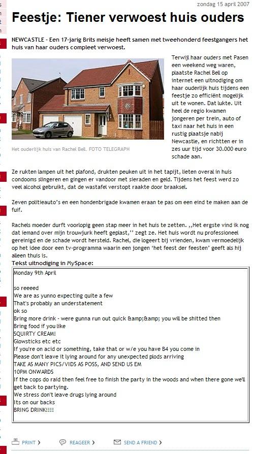 Britse tiener verwoest huis ouders tijdens feestje