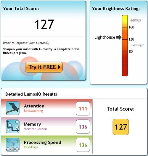 Lumos IQ test, poging 2