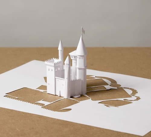 Kunstwerk geknipt in papier