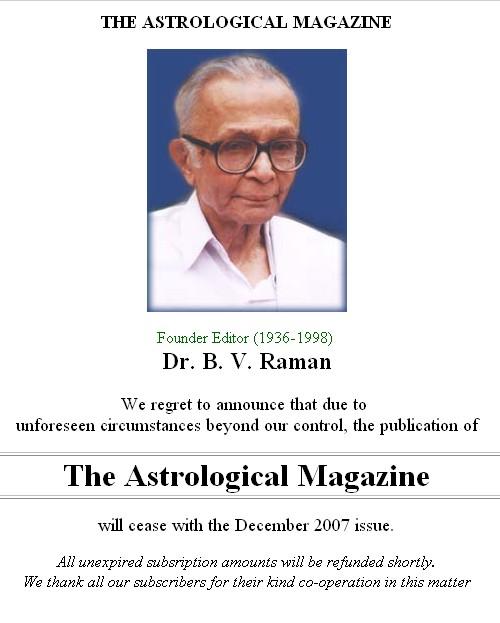 Astrologisch magazine sluit de deuren wegens onvoorzieneomstandigheden