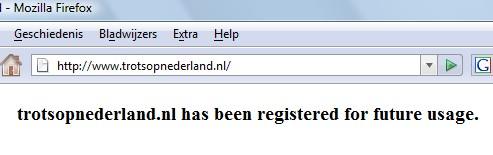 Blijkbaar toch niet zo trots op Nederland
