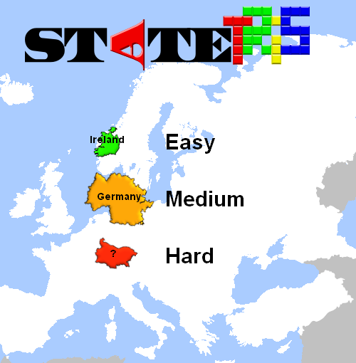 Tetris spelen met Europese landen