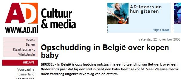 AD - opschudding in belgie over kopen baby