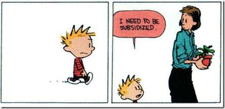 Calvin en Hobbes financiële crisis 6