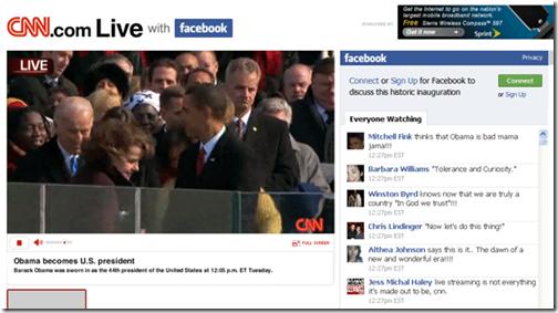 Samen met Facebook vrienden naar Obama kijken