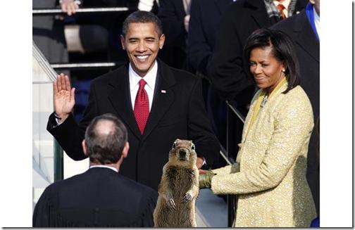 Eekhoorn bij inauguratie Obama