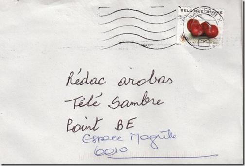 Adresse email sur une enveloppe