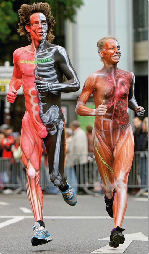 KörperWelten in marathon van Keulen