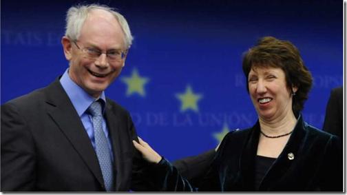 Herman Van Rompuy en Catherine Ashton