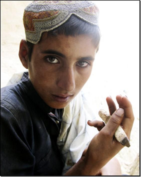 Chai boy, Helmand province, Afghanistan