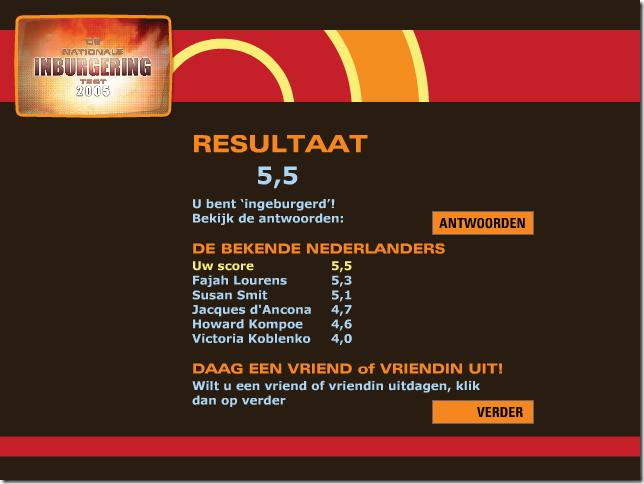 Nederlandse inburgeringstest: net geslaag!