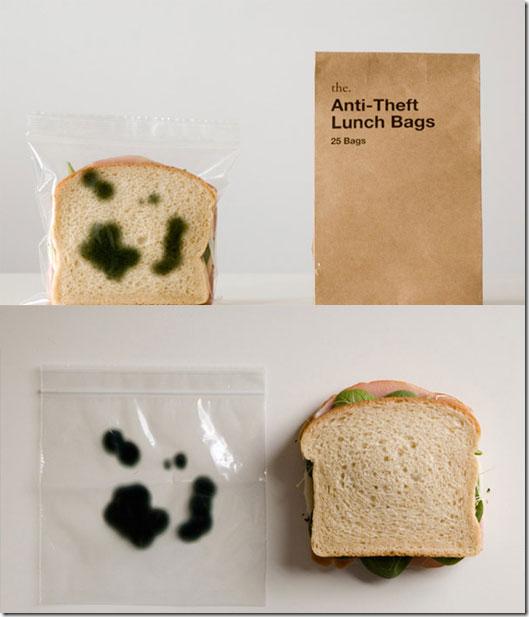 Plastic zakje voor boterhammen. Zien er direct minder appetijtelijk uit