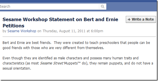 Bert en Ernie zijn niet homo: officieel statement van Sesamstraat
