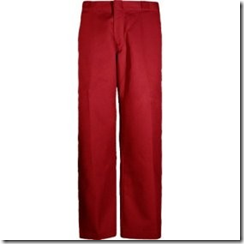 Rode broek, typisch Nederlandse mannenmode